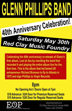 GLENN PHILLIPS - 40th Anniversary Celebration May 30th -Opens in New window